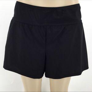 NWOT AVA & VIV Swim Bottom 16W 18W Black Shorts